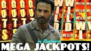•JACKPOT vs JACKPOT• •WHY THEY ARE POPULAR?• The WALKING DEAD slot machines BIG WINS!
