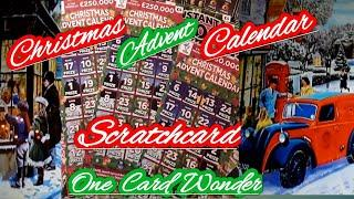 Scratchcard..Christmas Advent Calendar....its a One Card Wonder nightly game