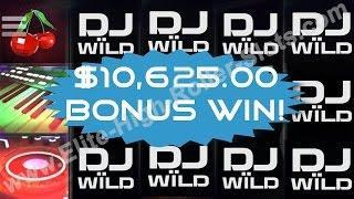 •DJ Wild Slot $10,625 Bonus Win! Jackpot Handpay Vegas Casino High Stakes Gambling Video Slots IGT •