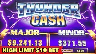 •️$10 BET HIGH LIMIT BONUS•️THUNDER CASH BIG WIN   $5 / $7.50 LIGHTNING LINK HUGE WIN SLOT MACHINE