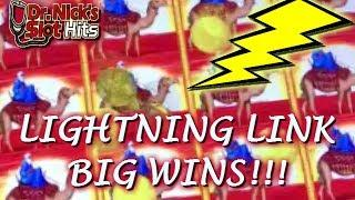 **CAN LIGHTNING STRIKE TWICE?!? BIG WINS!!** Lightning Link Slot Machine