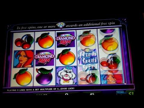 Rich Girl Slot Machine - $45 High Limit Live Play and Diamond Run Bonus!