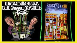 MASSIVE WIN Full Screen of Wilds on Walking Dead 2 Slot! How much does it pay?