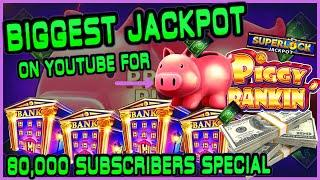 HIGH LIMIT Lock It Link Piggy Bankin' MASSIVE HANDPAY JACKPOT ⋆ Slots ⋆BIGGEST JACKPOT ON YOUTUBE FO