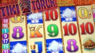 TIKI TORCH | Aristocrat - Retriggered! Max Bet Nice Win! Slot Machine Bonus