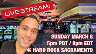 •$1000 Live Slot Play @ Hard Rock Sacramento!! MIGHTY CASH DOUBLE •️•️ | CASH MACHINE! •