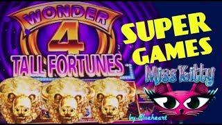 WONDER 4 TALL FORTUNES slot machine BUFFALO GOLD SUPER GAMES BONUS WINS!