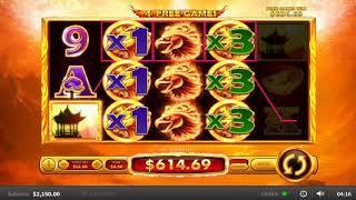 Flaming Phoenix slots - 1,807 win!