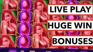 HUGE WIN!!! LIVE PLAY and Bonus on Ruby Star Slot Machine