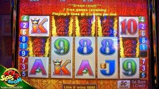 5 TIKI on LINE!!! Tiki Torch Bonuses BIG WINS on 5c Aristocrat Slots