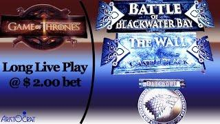 (Live Play) Aristocrat - Game of Thrones : Multiple Bonuses