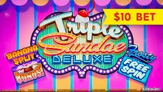 Triple Sundae Deluxe Slot - GREAT SESSION, ALL FEATURES!