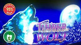 Timber Wolf 95% payback slot machine, bonus