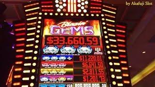 HANDPAY LIVE JACKPOT High Limit Slot Blazin' GEMS Max $27•Triple GEMS $9 & GOLDEN HORSESHOE Slot $9