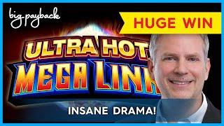 MOST DRAMATIC BONUS EVER! Ultra Hot Mega Link Amazon Slot - $20 BET BONUSES!