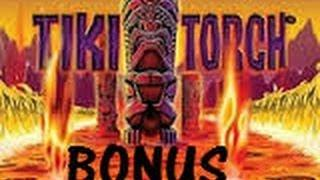 Tiki Torch - Aristocrat Slot Machine Bonus Win