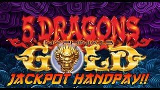 Aristocrat | 5 Dragons Gold Slot Live Play Bonus JACKPOT HANDPAY!
