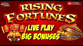Rising Fortunes Live Slot Play Nice Bonus Wins!