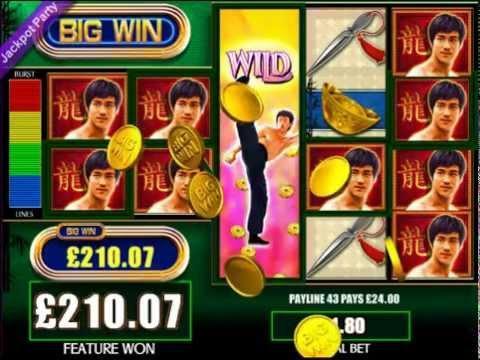 £670 MEGA BIG WIN (372 X STAKE) BRUCE LEE ™ BIG WIN SLOTS JACKPOT PARTY