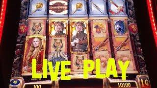 Game of Thrones live play at max bet $5.00 Slot Machine