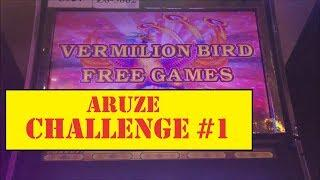 ARUZE $300 CHALLENGE VS ALBERT SLOTS AND SLOT TRAVELER!  PART #1