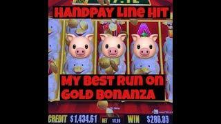 • Handpay Jackpot • Line Hit $6 Max Bet Gold Bonanza Slot Machine at Casino / Pokie •