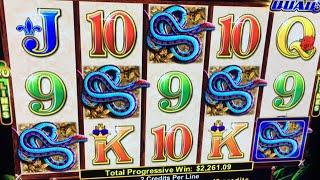 HUGE JACKPOT HANDPAY!!!!!!!  NEW Mighty Panther Slot Bonuses and Jackpot Line Hit- Ainsworth