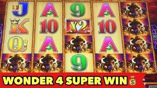 •️BUFFALO GOLD CHASING 15 HEADS•️WONDER 4 JACKPOT WITH SUPER FREE GAME SUPER BIG WIN!