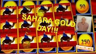 •Collins Day in the SAHARA!! Lightning Link • Slot Machine Bonus ~ Aristocrat•