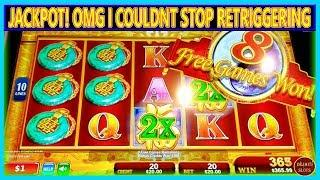 JACKPOT! OMG I COULD NOT STOP RETRIGGERING   OVER 50 SPINS   HIGH LIMIT  