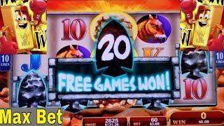 New Slot Mammoth Power & Gold Bonanza Slot Machine COME BACK BONUSES w/MAX BET ! Nice Session