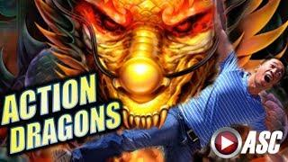 •ACTION DRAGONS• ALBERT GETS EATEN ALIVE!! OR DOES HE? | Slot Machine Bonus (Ainsworth)