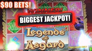 MASSIVE JACKPOT WINS ★ Slots ★ LEGEND OF ASGARD ★ Slots ★ HIGH LIMIT $90 BETS ★ Slots ★ HAND PAY