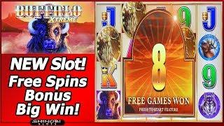 Buffalo Xtreme Slot - New Slot, Free Spins Bonus Big Win in First Attempt