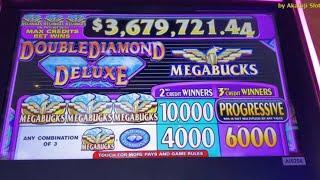 MEGA BUCKS - Double Diamond DELUXE - Old Slot Max Bet $3,  Blazin GEMS Max Bet $27