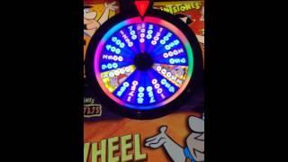 Flinstones slot machine wheel bonus