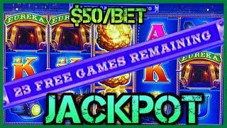 •HIGH LIMIT Lock It Link Eureka Reel Blast JACKPOT HANDPAY •$50 BONUS ROUND Slot Machine HARD ROCK •