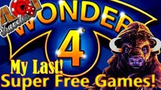 ** Super Free Games Buffalo Wonder 4 + Retriggers - My Last Time?! • SlotTraveler •