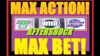 ★ NEW MAX BET HIGH LIMIT AFTERSHOCK SLOT MACHINE! Live Play Slot Machine Bonuses! ~ WMS (DProxima)