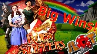 ** BIG WIN ** Wizard of Oz Ruby Slippers Slot Machine Bonus • SlotTraveler •