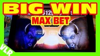Double Buffalo Spirit - MAX BET BIG WIN - Slot Machine Bonus + RETRIGGERS