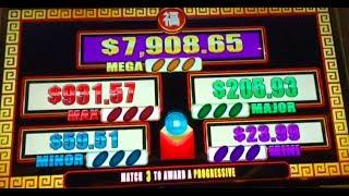 BIG FAT WIN on NEW YEAR FESTIVAL ~ 5 Dragons GRAND ~ Lightning Link and more slot machine wins!