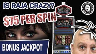 ★ Slots ★ $75 SPINS? Is Raja CRAZY!?! ★ Slots ★ Only Crazy for HIGH-LIMIT BLACK WIDOW