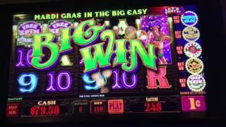 SLOT MACHINE Live Play and Bonuses ~ Mardi Gras in the Big Easy, Lightning Link and more pokies