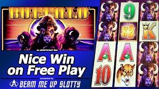 Buffalo Slot - Live Play with Free Play, Nice Free Spins Bonus Win and Re-Triggers