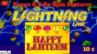 Aristocrat - Lightning Link ( Happy Lantern ) : Bonus and 2 Re Spin Features on 10c Machine