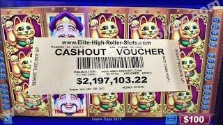 $2,197,103.22 Million Dollar High Limit Video Slot Cashout Win! Elite High Roller Vegas Casino Jackp