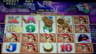 Captain Cutthroat Slot Machine Bonus + Retriggers - 56 FREE GAMES w/ Wild Multipliers - MEGA BIG WIN