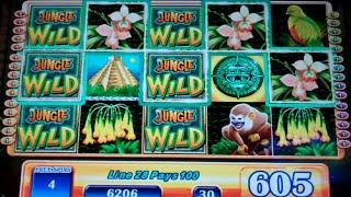 Jungle Wild Slot Machine Bonus - 7 Free Games Win with 2 Wild Reels