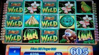 Jungle Wild Slot Machine Bonus - 7 Free Games Win with 2 Wild Reels